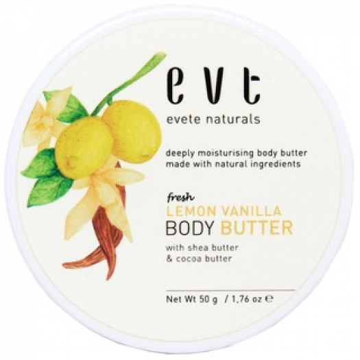 Evete Naturals Body Butter Lemon Vanilla 50 gr